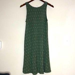NWOT | Green & White Sleeveless Dress